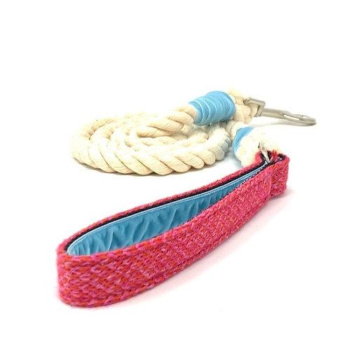 Geranium & Pink - Rope Lead - Harris Design