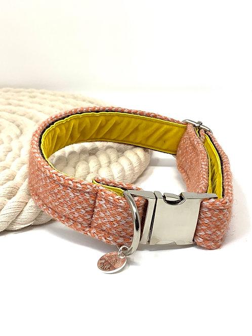 Orange & Dove - Harris Design - Dog Collar