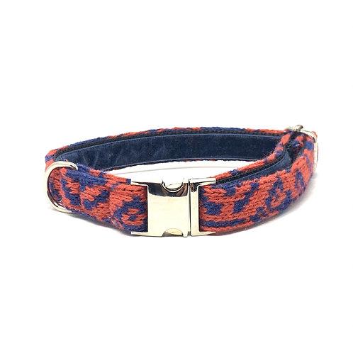 Geranium & Royal Blue - Kerr Design - Dog Collar