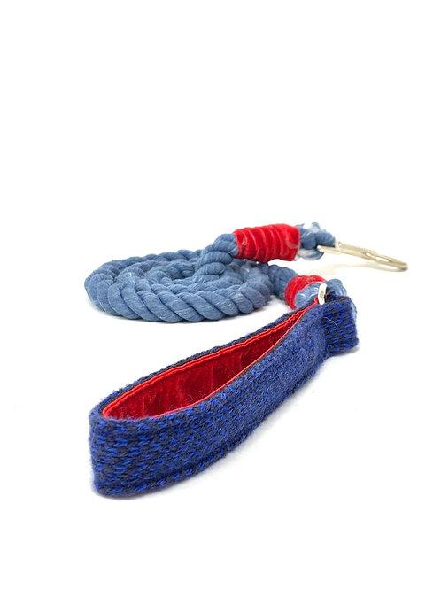 Royal Blue & Navy - Harris Design - Rope Lead + Navy rope