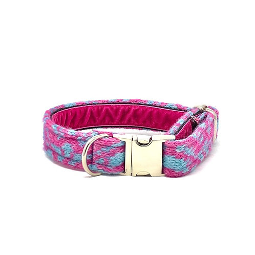Pink & Turquoise - Kerr Design - Dog Collar