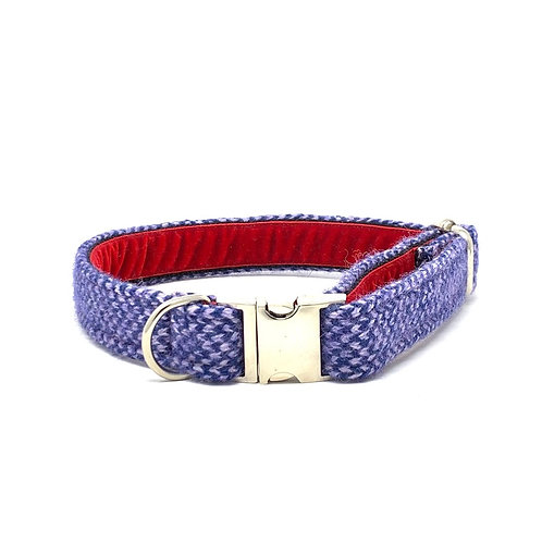 Royal Blue & Lilac - Harris Design - Dog Collar