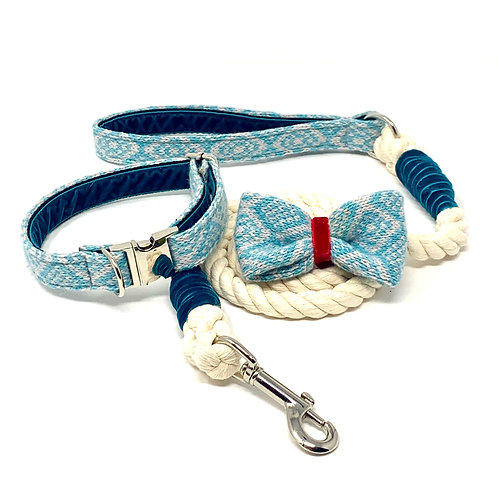 Turquoise & Dove - Barclay Design Bundle with rope lead