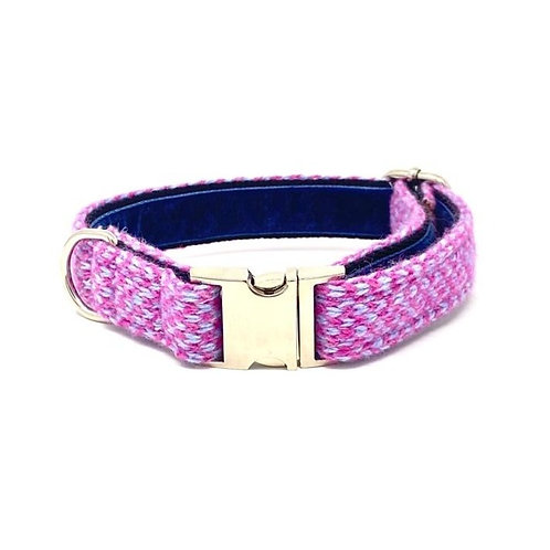 Pink & Baby Blue - Harris Design - Dog Collar
