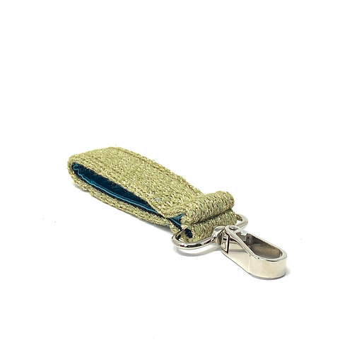 Handmade Key Ring - Green & Sparkles - Harris Design