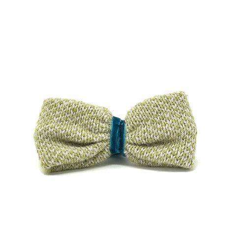 Handmade Dog Bow Tie - Green & Dove - Harris Design