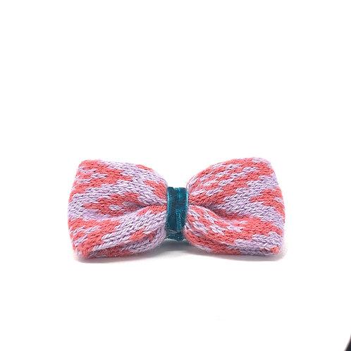 Handmade Dog Bow Tie - Geranium & Lilac - Barclay Design