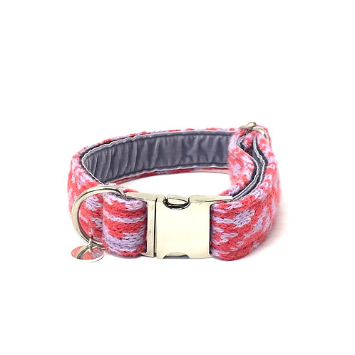 Handmade Dog Collar - Geranium & Lilac - Kerr Design