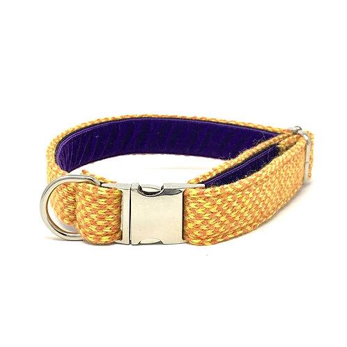 Orange & Yellow - Harris Design - Dog Collar