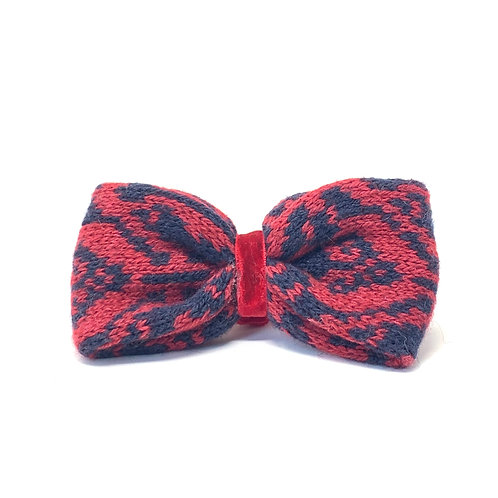 Handmade Dog Bow Tie - Red & Navy - Kerr Design