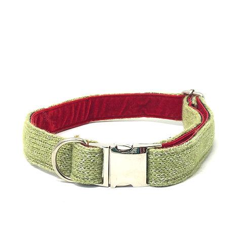 Handmade Dog Collar - Green Sparkles - Sample Sale