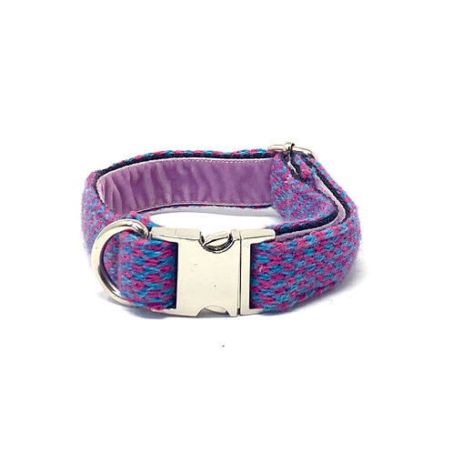 Handmade Dog Collar - Pink & Turquoise - Harris Design