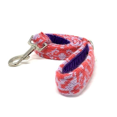 Handmade Dog Lead - Geranium & Lilac - Kerr Design