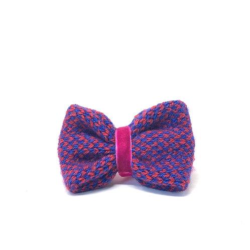 Handmade Dog Bow Tie - Red & Navy - Harris Design