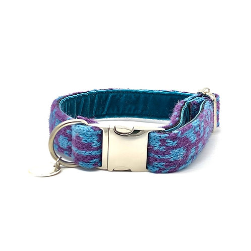Turquoise & Purple - Kerr Design - Dog Collar
