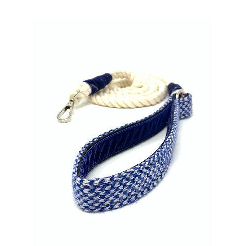 Navy & Dove- Harris Design - Rope Lead