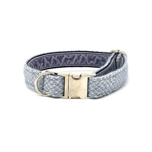 Ice Blue & Dove - Harris Design - Dog Collar