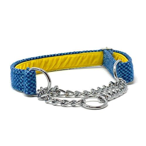 Navy & Turquoise  - Harris Design - Martingale Dog Collar