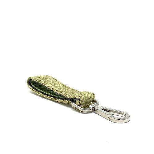 Handmade Key Ring - Green Sparkle Harris Design