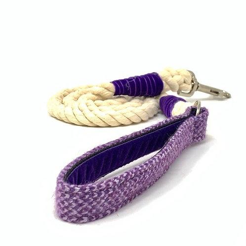 Purple & Lilac - Harris Design - Rope Lead