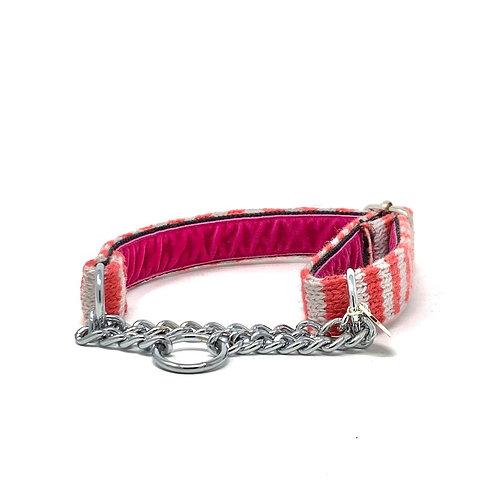 Geranium & Dove - Wallie Design - Martingale Dog Collar