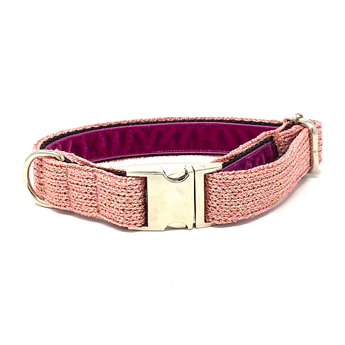 Pink Sparkle - Block Design Dog Collar