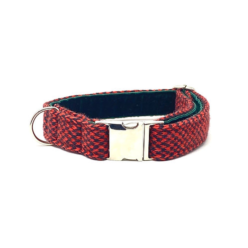 Black & Red - Harris Design - Dog Collar