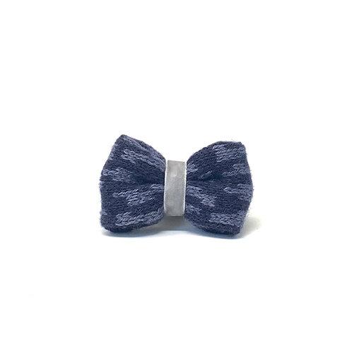 Handmade Dog Bow Tie - Grey & Navy - Kerr Design