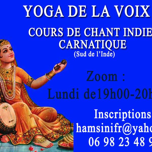 Cours de chant Indien Carnatique & Yoga de la Voix
