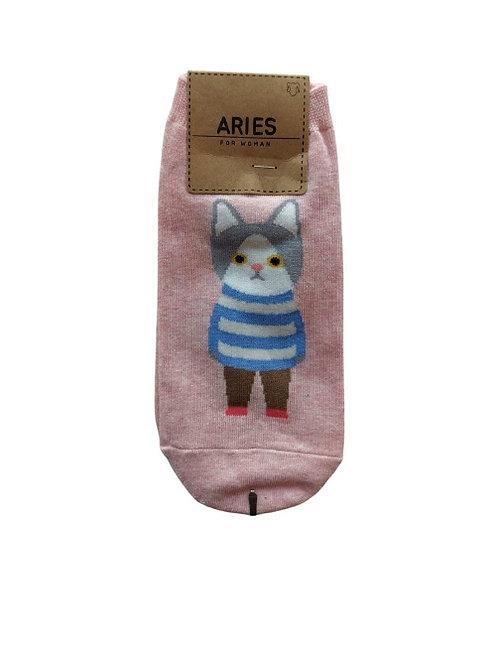 Cat Pink Socks 12326