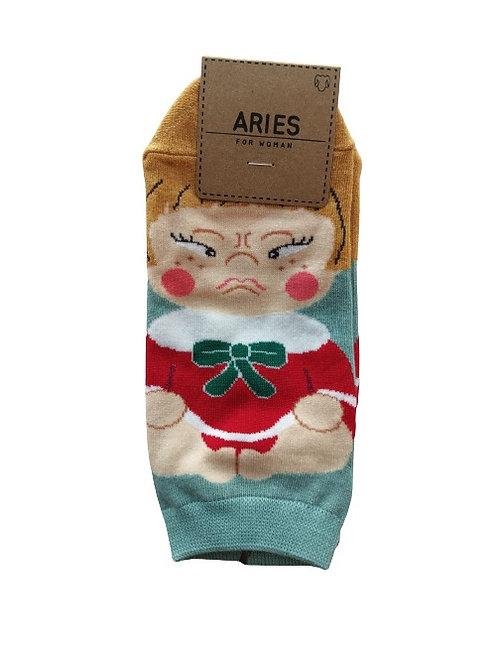 Angry Face Socks 12326