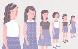 装画コンペ応募作品「むらさきスカートの女」