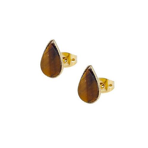 Boucle d'oreilles puces pierres
