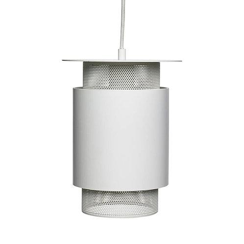 Lampe blanche métal