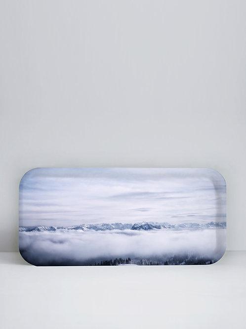 Plateau  La mer de nuage  32x15 cm