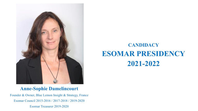 ESOMAR PRESIDENCY 2021-2022 Open up, Elevate & Celebrate