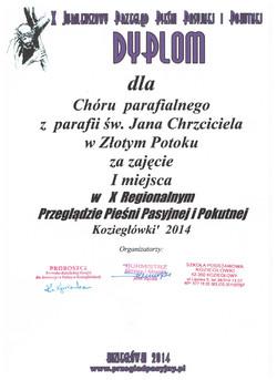 dyplom_za_pierwsze_miejsce_Koziegłówki__2014r.