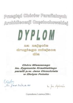 P dyplom z 2 miejsce
