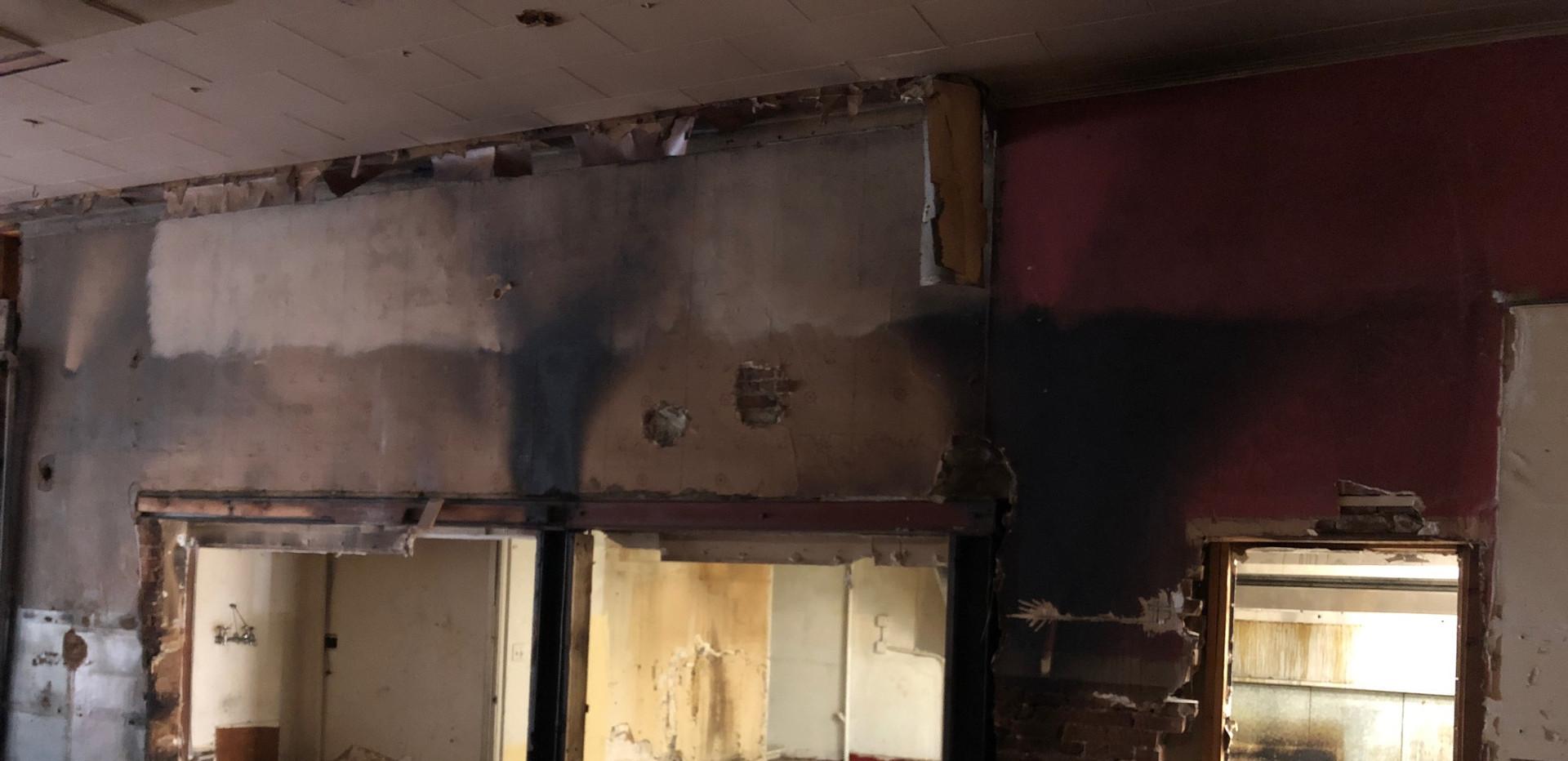 Demo of the main floor - hidden fire damage