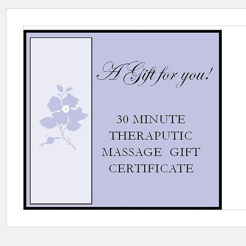 30 Minute Gift Certificate