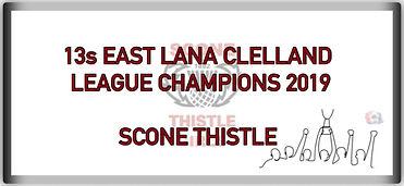 13s East Lana Clelland League Champions