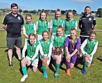 Hibernian Girls 13s Robertson and Wight