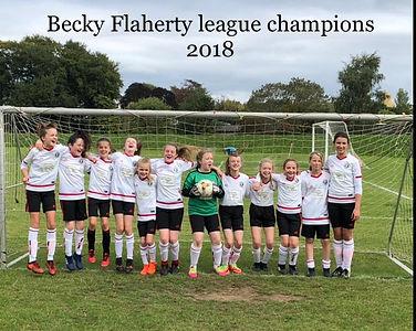13s Becky Flaherty League Winners 2018 C