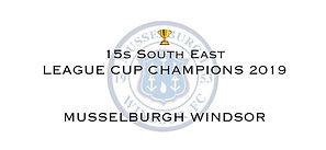 15s SE League Cup Winners 2019 Musselbur