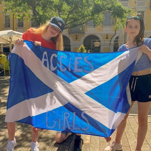 Eilidh and Natalie Accies girls in Nice