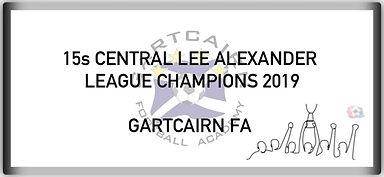 15 Central Lee Alexander League Champion