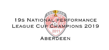 19s NP League Cup Winners 2019 Aberdeen