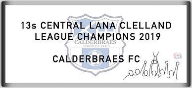 13 Central Lana Clelland League Champion