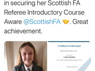 Caitlyn achieves Referee award...