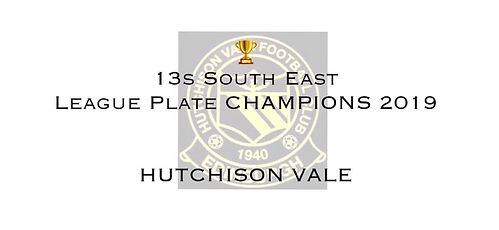 13s SE League Plate Champions Hutchison